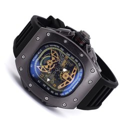 Wholesale Mechanical Watches Skeleton Square - Hot Men Watches Luxury Watch Brand Stainless Steel band Skeleton Dial Mechanical Automatic Wristwatch Business Gift For Mens relojes clock