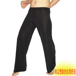 Wholesale Sexy Black Onesies - Wholesale-Comfortable leisure trousers, thin and sexy, ice silk pyjamas elastic