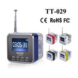 Wholesale led alarm clock radio - Nizhi TT-029 Stereo Speaker Mini LED Display Speakers Music Player with LCD Crystal Surround Soundbox FM Radio Alarm Clock TF Slot USB
