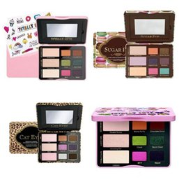 Wholesale Cute Makeup Brand - Hot item Famous Brand sugar pop cat eyes totally cute TF eyeshadow palette makeup sweet peach eye shadow cosmetics 1 set 9 colors