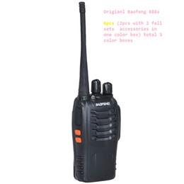 Atacado-6pcs NOVO portátil Walkie Talkie rádio em dois sentidos UHF Ham rádio HF transceptor Baofeng 888 para estação de rádio CB Baofeng Bf-888s cheap hf ham radios de Fornecedores de rádios de fiambre hf