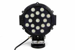 Wholesale Lighting 51w Led Round - led truck work lights, 7 inch 51w Epistar LED driving light work