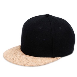 Wholesale New Arrival Snapbacks - New Arrival Cork Brim Baseball Cap Snapback Hat Men Women Handsome Wool Suiting Light Board Adjustable Hip Hop Hat Cool Leisure Cap