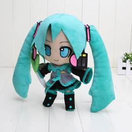 boneca vocaloid miku hatsune Desconto Anime japonês varejo Hatsune Miku VOCALOID série 24 CM neve Hatsune Miku brinquedos de pelúcia macias bonecos de pelúcia