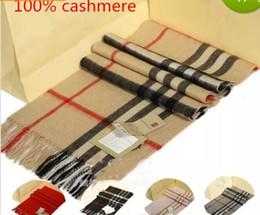 Wholesale Men Houndstooth Scarf - B Brand Top 100% Silk Pashmina Wool Scarf Women and Men 2017 luxury brand Plaid Scarfs echarpe Pashminas Women shawls and scarves 165*30cm