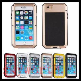 Wholesale Gold Galaxy S3 Case - Aluminum Metal Case Gorilla Tempered Glass Screen Shockproof Cover For iphone 4S 5S 6 6S plus Samsung Galaxy S3 S4 S5 S6 Edge
