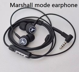 Wholesale Headphones Drop Shipping - Drop-shipping New Marshall Mode Headphones in- ear headset black earphones with mic HiFi headset universal for mobile phones