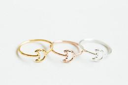 Argentina En 2016 los nuevos accesorios de moda joyería de aleación de zinc el anillo de la luna R1508 niña hermosa regalo para las mujeres Suministro