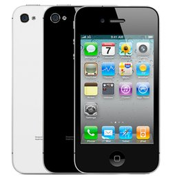 Wholesale Iphone Cell Phone Accessories Wholesale - Refurbished Apple Iphone 4 16G ROM Factory Unlocked 3.5Inch Screen 5.0MP Camera IOS Cell Phone
