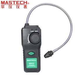 Wholesale Natural Gas Detectors - Wholesale-MASTECH MS6310 Portable Combustible Gas Leak Detector Natural Gas Propane Gas Analyzer With Sound Light Alarm
