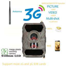 Wholesale Ir Game Cameras - S880G 12MP HD 1080P Digital Hunting Camera 940NM Trail Game Camera 3G Network SMS MMS Night Vision 56pcs IR LED