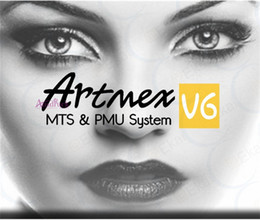 Wholesale Digital Permanent Makeup Machine Kit - 2017 Digital Artmex Eyebrow Lip Permanent Makeup Tattoo Machine Pen Kit+30Needle