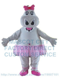 Wholesale Hippo Fancy Dress Costume - pretty hippo girl mascot costume newly customized adult size cartoon hippo theme anime cosply carnival fancy dress kits 2616