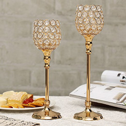 Wholesale Crystal Votive Holders Wholesale - Crystal Candlesticks Wedding Decoration Table Centerpieces Sparklers Wine Glasses Tealight Candle Holders Home Decoration Housewarming Gifts