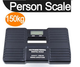 Wholesale Portable Personal Scale - 150KG*0.1KG Portable Personal Scale Digital Bathroom Body Weight Scale 150KG 100g weighing scales Black Free Shipping