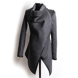 Wholesale Woolen Jackets For Women - Wholesale- Women's Woolen Coats Autumn Fashion Long-Sleeve Jackets For Female Cool Coat Slim Solid Clothes Women's Jacket 2016