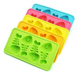Wholesale Soft Silicone Shapes - 150pcs Soft and Healthy silicone Ice Mold Cute Fishbone Shape Ice Tray for Home Dining Bar Drink Party Tools ZA0571