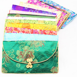 Wholesale Vintage Chinese Bracelet - Chinese knot Silk Brocade 3 Set Small Zip Bags for Gift Wallet with Coin Purse Bag paper Napkin pack Vintage Bracelet Necklace Storage Pouch