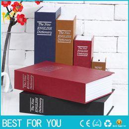 Wholesale Money Box Dictionary - Big Size Simulation Dictionary Book Safe Cash Money Jewelry Home Secret Locker Storage Box with a key lock