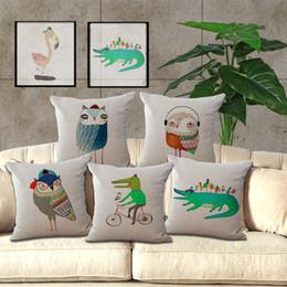 2019 cuscini del sofà del sofà Nuovo arrivo Animale Gufo Decorativo per la casa Divano / Letto Cuscino Gettare 18