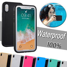 Wholesale Iphone 5s Body - Waterproof Case Underwater Water Resistant 100% Sealed Diving Full Body Slim Shell Soft TPU Cover For iPhone X 8 7 Plus 6 6S 5S 5 Samsung S7