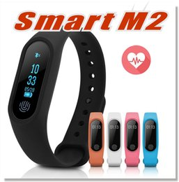 Wholesale Used Watches - M2 XIAOMI Fitness tracker Watch Band Heart Rate Monitor Waterproof Activity Tracker Smart Bracelet Pedometer Call remind With OLED Display