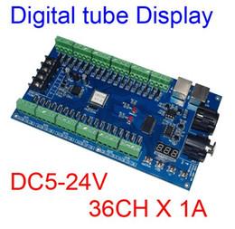 Wholesale Controllers Group - 36 Channel 12 Group DMX512 Decoder Controller 36CH RGB Output Digital Tube Display For LED Strip Light RGB Dump Node DC5-24V