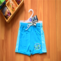 Wholesale Swimming Pants For Children - 2-6T 2016 New Baby Boys Brand Swimwear Kids Board Shorts in Blue Beach Pants Boy Bathing suit Boxer for Children