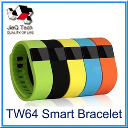 Wholesale Oled Iphone - TW64 Fitbit Wristband Smart Band Bluetooth 4.0 Activity Tracker Smartband Sport Bracelet 6 Colors For iPhone 6 6S Plus OLED Screen