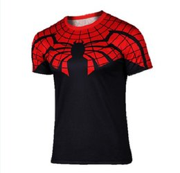 Wholesale Spiderman Cycling Tops - New Arrival 2016 Spiderman Cycling Jersey Tops Anti UV & Quick Dry Short Sleeve Cycling Jerseys Tops Only Cycling Jersey Kits Necessity