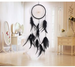 Wholesale Metal Handmade Car - New Leather Dream Catcher Antique Imitation Handmade Dream Catcher With Feathers Dream Catcher Car Pendant Decoration Ornament