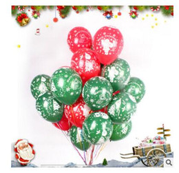 Wholesale 12 Inch Latex Balloons - Balloon Christmas Decorations 12 inch Latex Cartoon Balloon Party Wedding Birthday Party Supplies Kids Toys DHL Free Shippin
