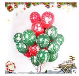 Wholesale Latex Decorative Balloons - Balloon Christmas Decorations 12 inch Latex Cartoon Balloon Party Wedding Birthday Party Supplies Kids Toys DHL Free Shippin