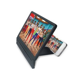 Wholesale Foldable Magnifier - Foldable Portable Mobile Phone Screen Magnifier HD Expander Stand Holder For SmartPhone Magnifier Glass Screen HD Amplifier Stand Holder
