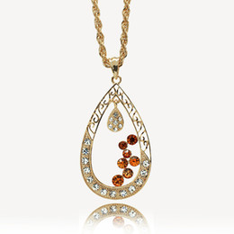 Wholesale Arab Gold Pendant - 2016 foreign trade jewelry classic Arab Middle East Islam Muslim teardrop-shaped pendant necklace hollow abstract boutique wholesale