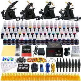 Wholesale Tattoo Kit Pro Ink - solong tattoo Sell From Xiulong-china 4 Pro Machine Guns Tattoo Kit 54 Inks Power Supply Needle Grips TK457