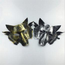 2019 tier wolf maske Scary Wolf Kopf Masken Maskerade Kostüm Halloween Party Masken Creepy Animal Maske Für Erwachsene Cosplay Prop günstig tier wolf maske