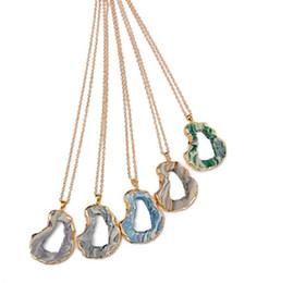 Canada Hot Kent collier de cerf-volant, creuser Durzy Nature pierre pendentif acrylique pierres précieuses Druzy bijoux livraison gratuite Offre