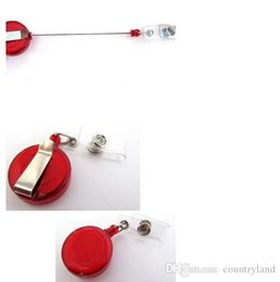Wholesale Metal Retractable Id Badge Holder - best 6 Pcs set Retractable Ski Pass ID Card Badge Holder Key Chain Reels With Metal Clip