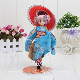 Wholesale Puella Magi Madoka Magica Figure - 22CM Good Smile Puella Magi Madoka Magica Kaname Madoka Maiko Ver 1 8 PVC Action Figure Toy