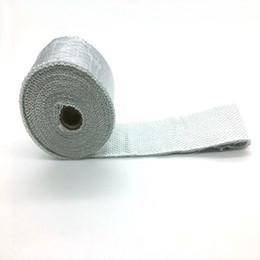 """2 """"x 50 'rollo de aluminio de fibra de vidrio de escape / cubierta de calor del abrigo con 5 piezas de kit de lazos de acero inoxidable desde fabricantes"""