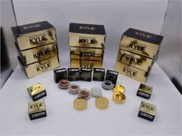 Wholesale Eye Shadow Colours - Ky Creme Shadow Jenner Cosmetics Birthday Edition Creme Eye Shadow Cream Rose Gold Copper Black High Light Brown 5 Colors Metal Colours