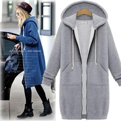 Wholesale Thicker Dress - New Autumn Women Hooded Fleece Thicker Sweatshirts Long Sleeve Fashion Europe and America Style Dresses Shirts
