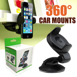 Wholesale note windshield - Cell Phone Accessories 360 Degree Windshield Car Mount Phone Holders sucker stand mobile phone Bracket for iPhone 6 6plus 8 X samsung NOTE 8