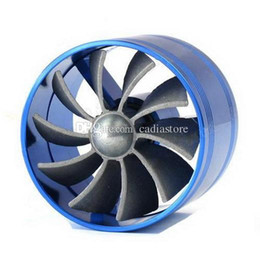 Wholesale Fan Gas Fuel Saver - Universal Car Fuel Gas Saver Supercharger Turbo Charger Air Intake Fan M00097 SPDH