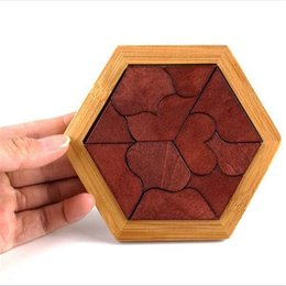 Wholesale Hot Wood Toy - Hot Sale Baby Wood Puzzle Jigsaw Heart Wooden Toys For Infant Playing Early Intelligence Clever Board Puzzle Perceptivity Shape