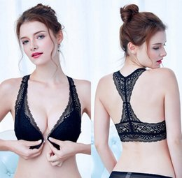 dad44bdc7b In-Stock no rim front closure women bra push up lace ladies bra and panty  set size 32 34 36 38