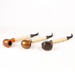 Wholesale Acrylic Rods - 1Pc Bamboo Rod Style Wood Color Metal & Acrylic Smoking pipe with Black gift box ZJ5515 ZJ5516 ZJ5529