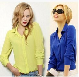 white long sleeve chiffon shirt Australia - 2018 spring auturn new long-sleeve shirt women chiffon blouse women's casual white slim turn down shirt