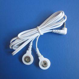 Connecteurs électriques pour le câblage en Ligne-2 en 1 Tête électrique fil DC2.5mm câble 2-Way câble d'électrode connecteur pour masseurs de machine de thérapie numérique